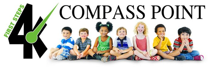 Compass Point Logo with group of young children