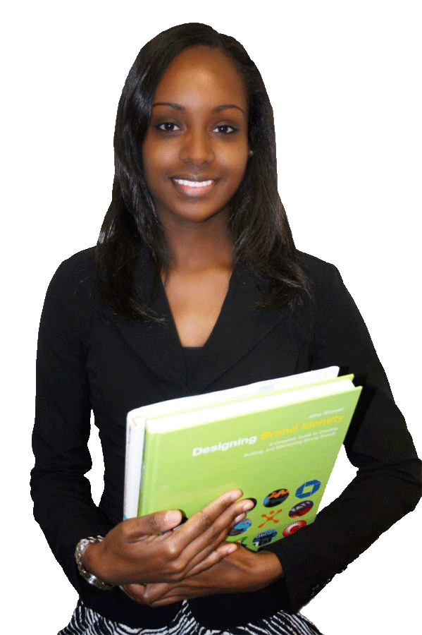 Image of student holding books