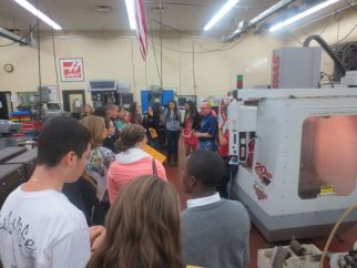 Future Focus 2013 Students tour Applied Technology department.